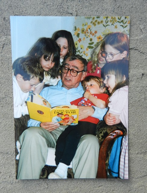 Grandaddy reading to the kids
