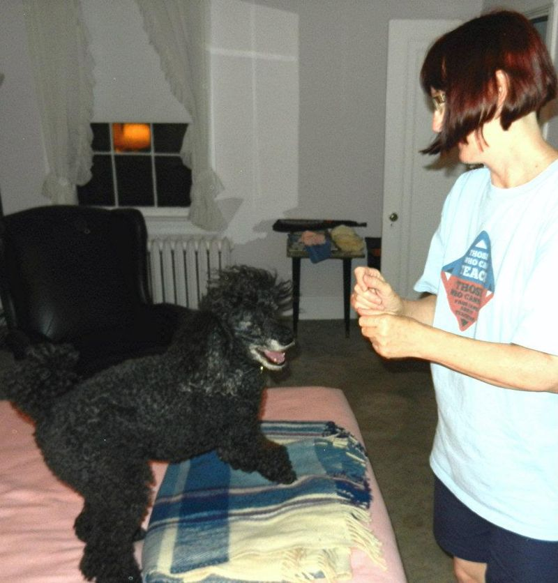 Edgar plays with Mary